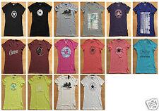 Converse hüftlange Damen-T-Shirts mit Rundhals aus Baumwolle