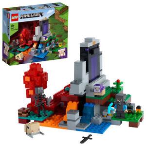Lego 21172 Minecraft The Ruined Nether Portal Building Set w/ Steve 316 pcs 8+