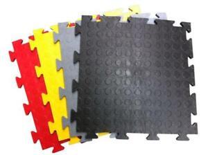 PVC Garage Floor Tiles, Workshop, Showroom, Gym, Cars, Motorbikes