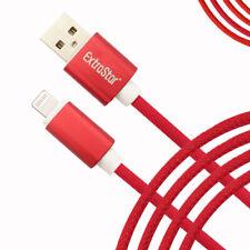 EXTRASTAR Rojo iPhone carga Cable de datos para 5 8 7 6S X XS XR Iluminación CE USB