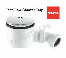 McALPINE 90mm CHROME BRASS HIGH FAST FLOW SHOWER WASTE TRAP ST90CB10-HP2