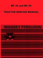Massey Ferguson MF 35 50 TO  MF30 MF50 TO35  F-40 Tractor Service Shop Manual