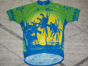 ( XXL ) Mens Canari Cycling Jersey South Maui Bicycles 1/2 Zip 3 Pouch Pockets