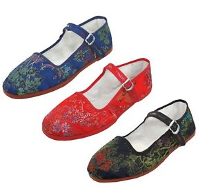 Women's Chinese Classic Mary Jane Floral Brocade Shoes Sizes 35 - 41 New