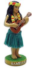 Hawaiian Dashboard Hula Girl Ukulele Player Mini Doll Hawaii Aloha Islands Green