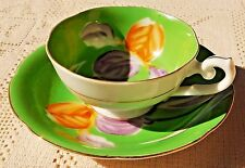 VINTAGE 1945-52 TRIMONT CHINA HAND PAINTED TEA CUP & SAUCER - OCCUPIED JAPAN