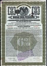1913 Republic of Mexico: Unidos Mexicanos, 10-Year $97 Treasury Bond