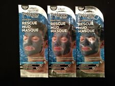 3 x Montagne Juenesse Men Face Dead Sea Rescue Mud Mask, 15g