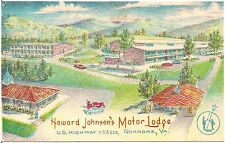 Howard Johnson's Motor Lodge Roanoke VA Artist Walter Bowers Postcard
