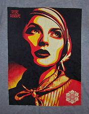 OBEY / SHEPARD FAIREY / RISE ABOVE / GRAFFITI ART / VINTAGE GRAY T-SHIRT SIZE M