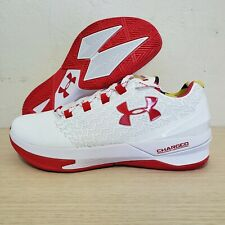Under Armour Team Charged Controller Maryland White Red Size 9 (1295351-106)