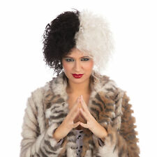 Halloween Diva Wig Cruella Deville Dalmatian Fancy Dress Accessory Book Week