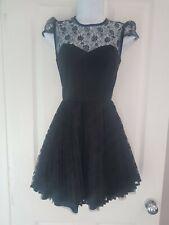 Womens Jones+jones Dress size 8 black lace fit&flare  party occasion vgc