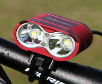 New Generation XM-L2  5000LM X2 Cree LED Bike Bicycle MTB Cycling Head Light FS