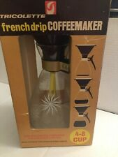 Vintage 4-8 CUP TRICOLETTE No. FB-8 FRENCH DRIP COFFEE MAKER NEW IN BOX