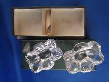 2 anciens salerons en cristal daum signés epoque 1960 salieres + cuilleres