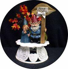 Garden Fairy Lovers Wedding, Engagement, Shower Cake topper. Nature gardening