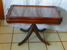 Walnut Coffee Table by Queencity with Glass Serving Tray (Ct169)