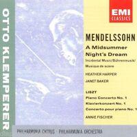 Mendelssohn: A Midsummer Night's Dream (Rêve D'une Nuit Di Klemperer CD Emi