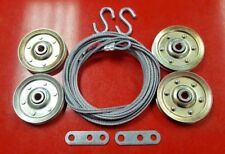 "Garage Door Extension Spring Cables & 4"" Pulley Kit For Doors Up To 8' Tall"
