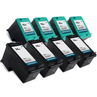 8pk Hp 74XL 75XL Ink Cartridge Photosmart C5240 C5250