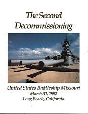 Uss Missouri Bb-63 The Second Decommissioning Program