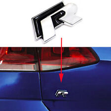1 Pcs Black R Line Rline Rear Boot Sticker Badge Emblems For VW Golf Polo Lupo