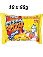 """10 x 60g Instantnudelsuppe """"Bistrenjkij Suptschik"""" Hühnerfleischgeschmack Суп"""