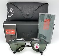 92a80d8153 NEW Rayban Sunglasses RB4287 601 9A 55 Black Grey Polarized Round 4287  Light Ray