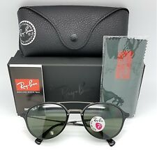NEW Rayban Sunglasses RB4287 601/9A 55mm Black Gunmetal Green Grey Polarized G15