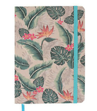 Tropical Flora Design Notebook - A5 - BNIB