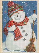 Cross Stitch Chart - Jolly Christmas Snowman - No. 284   TSG37 free uk p&p