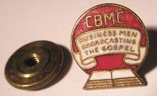 Cbmc Business Men Broadcasting the Gospel Vintage Screw Back Lapel Pin gift