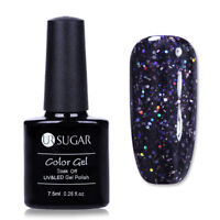 7.5ml Dark Purple Sequins Soak Off UV Gel Polish Nail Art Gel Varnish UR SUGAR