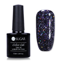 7.5ml UR SUGAR Dark Purple Sequins Soak Off UV Gel Polish Nail Art Gel Varnish