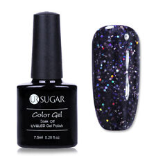 7.5ml Dark Purple Sequins Soak Off UV Gel Polish Nail Art Gel Varnish UR SUGAR