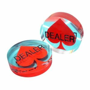 Spade Acrylic Poker Dealer Button NEW 3 Inch HUGE & THICK USA Seller