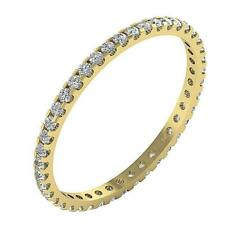 Eternity Anniversary Stackable Ring Natural Diamond I1 G 0.55 Ct 14K Yellow Gold