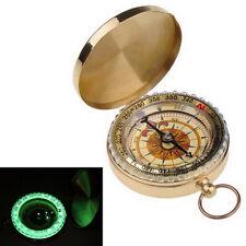 Outdoor Camping Hiking Brass Pocket Golden Compass Navigation Practical