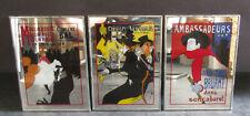 3 Spiegel- Moulin Rouge; Ambassadeurs; Divan Japonais; 27 x 37 cm