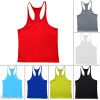 New Men Gym Bodybuilding Vest Exercise Tank Top Muscle Stringer Singlet Racer NG