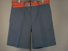 Best Club Room Belted Chino Shorts Cadet Blue 38 Men New NWT
