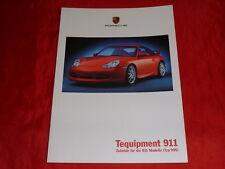 PORSCHE 996 911 Tequipment Zubehör Accessoires Prospekt Brochure von 1999