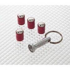 Richbrook Spinning Rosso Auto VALVE Caps-anti furto-Set di 4-CONSEGNA GRATUITA