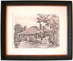 Australian Artist Cedric Emanuel.s print titled 'The Home of Norman Lindsay'.