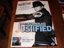 JUSTIN TIMBERLAKE JUSTIFIE!RARE FRENCH PRESS/KIT/POSTER