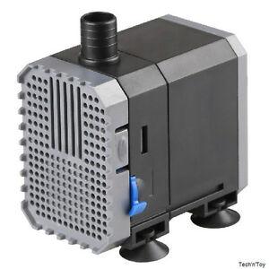 160-1585 GPH ADJUSTABLE SUBMERSIBLE WATER PUMP AQUARIUM POND SUMP 600-6000 L/H