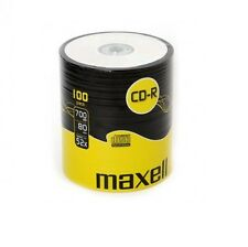 100 CD -R Maxell vergini vuoti  80 minuti new STOCK + 1 cd cdr verbatim 624037