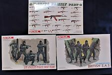 DML 1/35 Urban Elite and Quartermast Series 3 Different Models,  Unmade in Boxes
