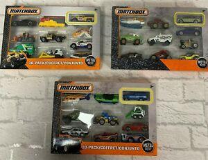 Matchbox Car 10 Vehicle Pack Gift Set Brand New Metal